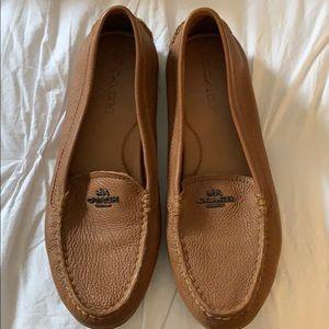 NWOT coach loafer/flat Brown/Camel 8